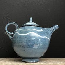 Load image into Gallery viewer, Blue Stoneware Teapot