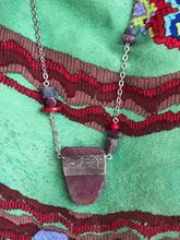 Load image into Gallery viewer, Ruby Kyanite with pewter necklace