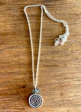 Load image into Gallery viewer, Labradorite and Pewter Necklace