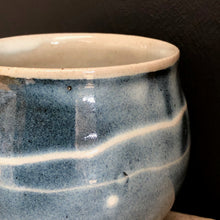 Load image into Gallery viewer, Blue Stoneware Mug with Porcelain Slip Trail
