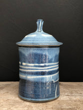 Load image into Gallery viewer, Blue porcelain canisters