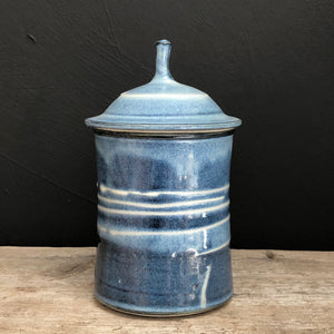 Blue porcelain canisters