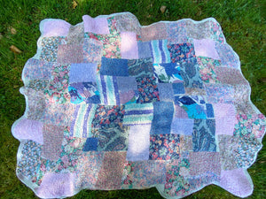 Liberty Patchwork and Nuno Felt Quilt