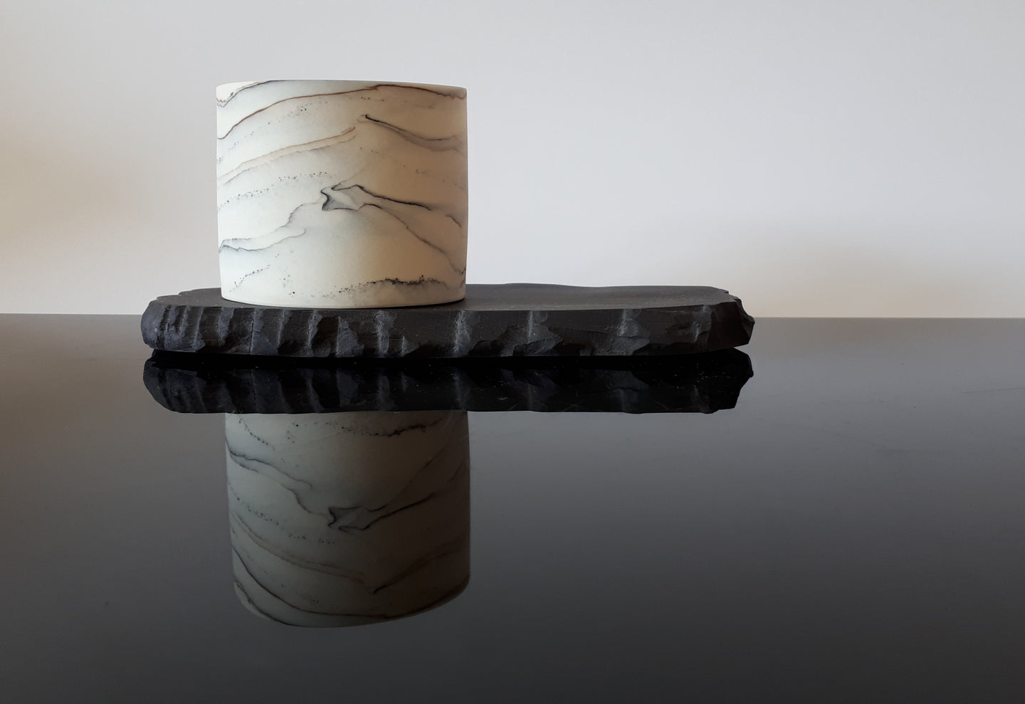 Micro vessel on Black Porcelain