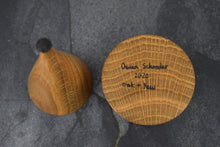 Load image into Gallery viewer, Oak ring box with yew collar