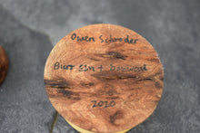 Load image into Gallery viewer, Burr elm ring box with boxwood collar