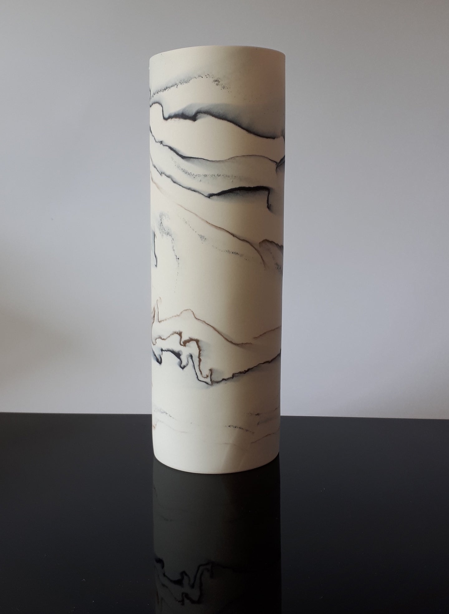 Tall porcelain vessel