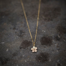 Load image into Gallery viewer, Gold thistledown necklace made with eco gold