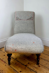 Victorian Embroidered Nursing chair