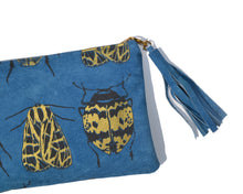 Load image into Gallery viewer, Mixed blue suede clutch