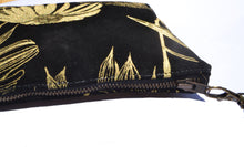 Load image into Gallery viewer, Echinacea black and gold clutch