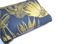 Load image into Gallery viewer, Navy and Gold Echinacea Purse