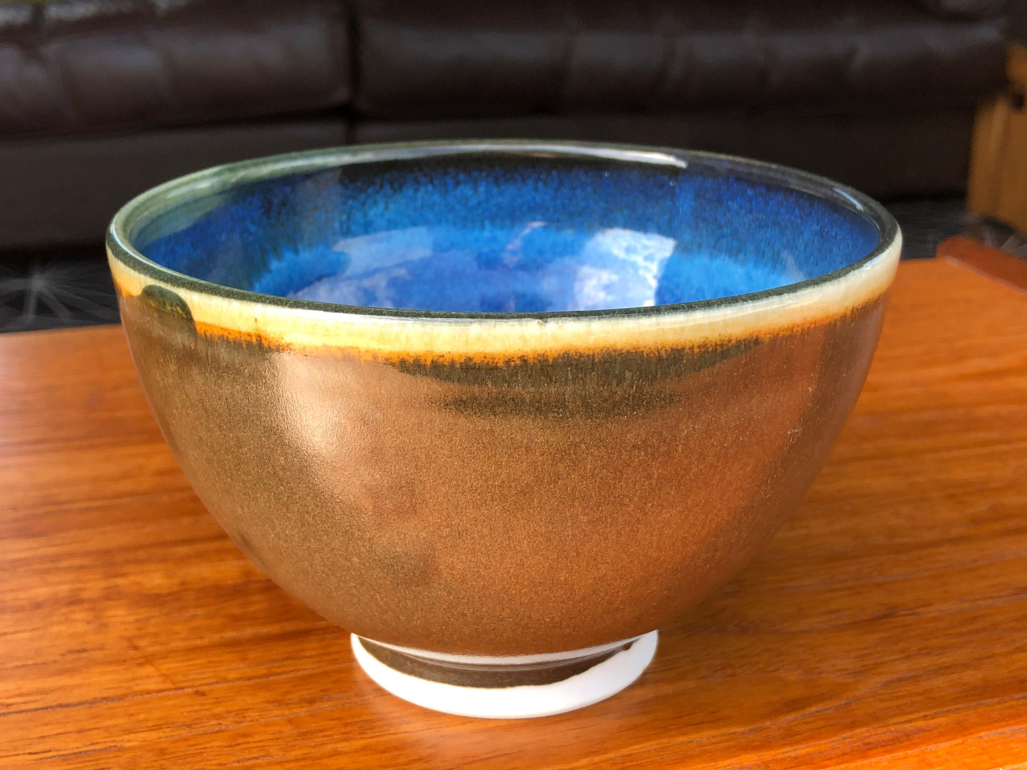 Rich Cobalt Blue Porcelain Bowl