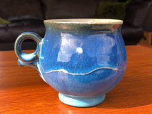 Load image into Gallery viewer, Rich Cobalt Blue Stoneware Mug