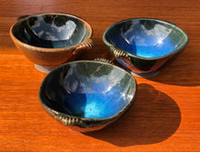 Load image into Gallery viewer, Trio of  cobalt blue dipping bowls