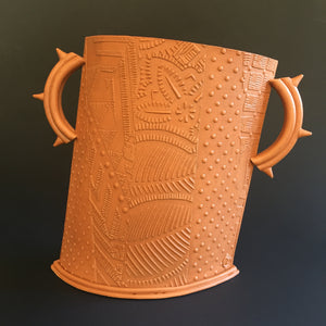 Terracotta vessel with spike handles