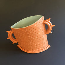 Load image into Gallery viewer, Terracotta vessel with spike handles