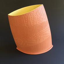 Load image into Gallery viewer, Terracotta vessel with yellow interrior