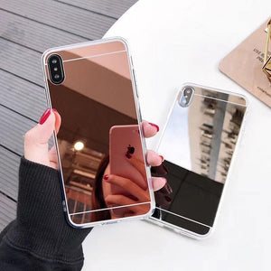Luxury Mirror Silicone Case For Samsung Galaxy A50 A70 A40 A10 A20 A30 M10 M20 M30 S8 S9 S10 Plus Note 10 Pro 8 9 Soft Cover