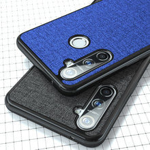Load image into Gallery viewer, For OPPO Realme 5 Case Cloth Soft Silicone Frame Back Cover For Realme 5 Pro Cases Business Shockproof Fundas