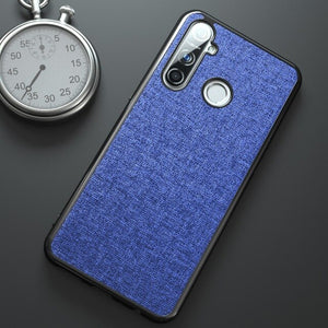 For OPPO Realme 5 Case Cloth Soft Silicone Frame Back Cover For Realme 5 Pro Cases Business Shockproof Fundas