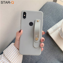 Load image into Gallery viewer, wriststrap phone holder silicone case for xiaomi redmi note 8 pro 8t 7 xiomi 7a 8a k30 k20 note 5 6 pro soft back cover