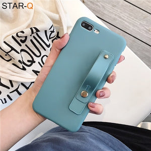 wriststrap phone holder silicone case for xiaomi redmi note 8 pro 8t 7 xiomi 7a 8a k30 k20 note 5 6 pro soft back cover