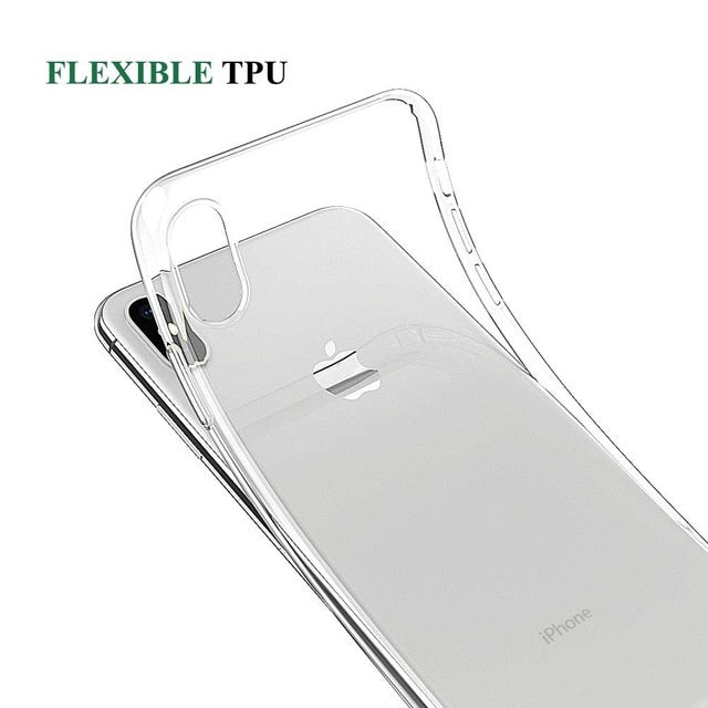Clear Phone Case For iPhone 7 XR Case Silicone Soft Back Cover For iPhone 11 Pro XS Max X 8 7 6 6s Plus 5 5S SE Transparent Case