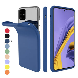 For Samsung Galaxy A51 Case Slim Soft TPU Phone Case Built-in Velvet Material Anti-Scratch Protective Cover For Samsung A71 S20