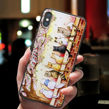 Load image into Gallery viewer, 3D Relief Van Gogh Phone Case For iPhone 7 Plus 8 6 6S X Soft Silicone Cover For iPhone 5 5S SE XS XR 11 Pro MAX Starry Sky Case