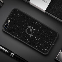 Load image into Gallery viewer, Silicone Phone Case For iPhone XR XS Max 7 8 6 6S Plus 5 5S Pattern Cartoon Planet Space Star Back Cover For iPhone 11 Pro Shell