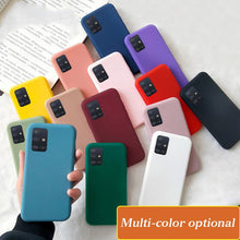 Load image into Gallery viewer, for samsung galaxy a51 a71 case candy color silicone cover for samsung s20 s10 s10e s9 s8 plus a10 a20 a30 a40 a50 a70 note 9 10
