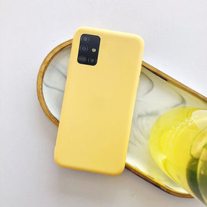 for samsung galaxy a51 a71 case candy color silicone cover for samsung s20 s10 s10e s9 s8 plus a10 a20 a30 a40 a50 a70 note 9 10