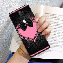Load image into Gallery viewer, Reayou Diamond lace bow love Black Soft Shell Phone Case Capa For OPPO A83 1 71 72018 5S X5S X7 1K 73S X7 PRO 11X