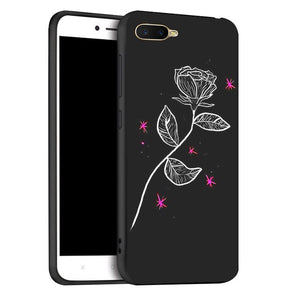 For Oppo K1 Case Phone Black silicone Cover For OPPO RX17 Neo case For Oppo K1 K 1 Cover Case 6.4inch soft tpu cover
