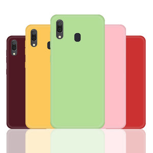 Protective Soft TPU Silicone Case For Samsung Galaxy A10 A20 A30 A40 A50 A60 A70 A750 Candy Color Fashion Back Cover Fundas Capa