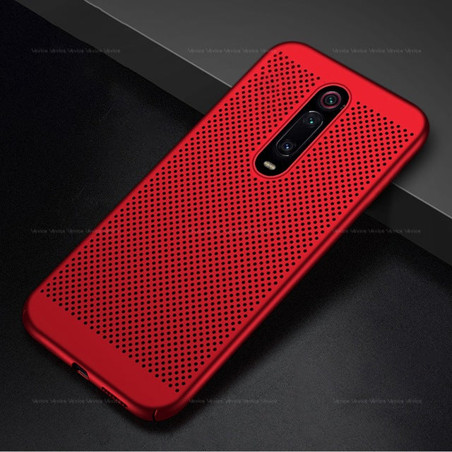 Cooling Mesh Case For Xiaomi Mi 9T Pro mi9t mi9 t pro mi9tpro Heat Dissipation Hard PC Cover on For Redmi K20 Pro K 20 Pro 20pro