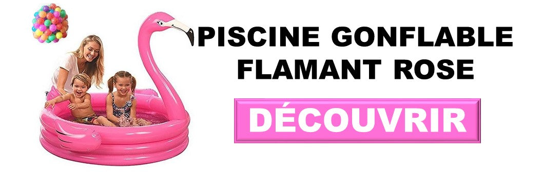 piscine flamant rose gonflable