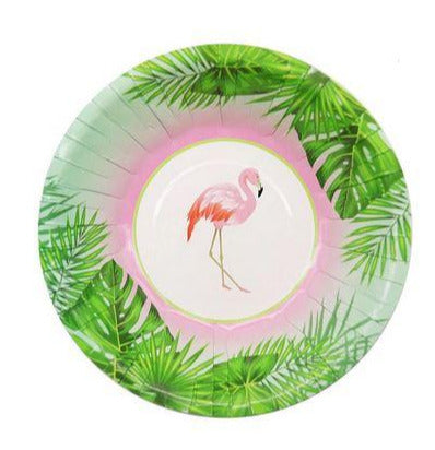 Assiettes Flamant Rose Rondes