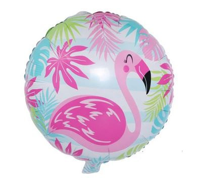 Ballon Flamant Rose Rond Tropical