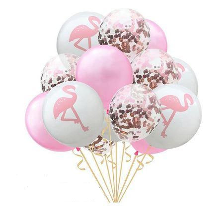 Ballons Flamant Rose Brillant