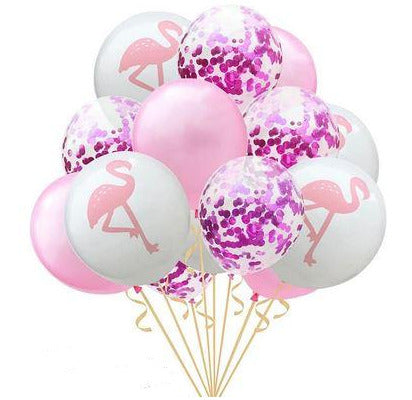 Ballons Flamant Rose Violet