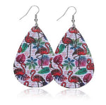 boucles d'oreilles original flamant rose tropical