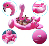 Bouee gonflable flamant rose plusieurs adultes