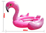 bouee flamant rose geante bateau gonflable adultes
