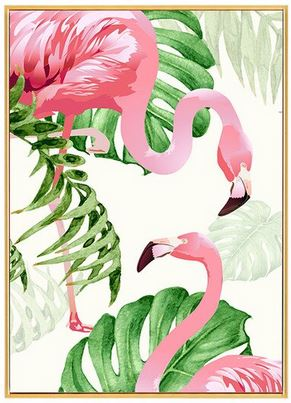 Cadre Photo Flamant Rose Duo