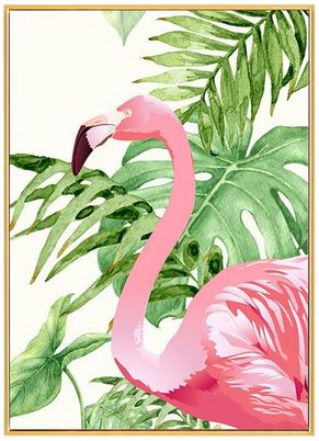 Cadre Photo Flamant Rose Solo