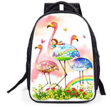 cartable imprime flamant rose dessin anime cartoon