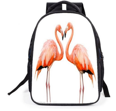 sac a dos fille flamant rose realiste