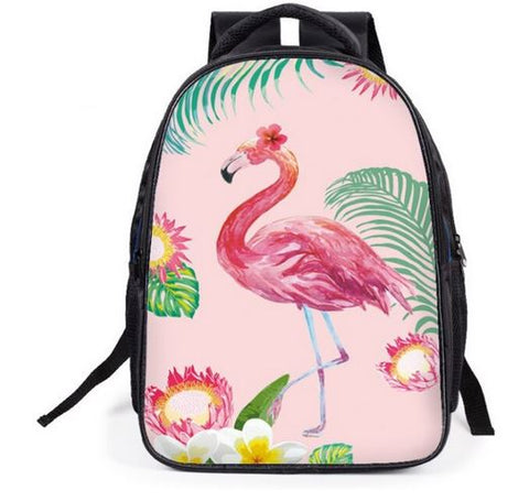 cartable flamant rose decor ete floride tropique